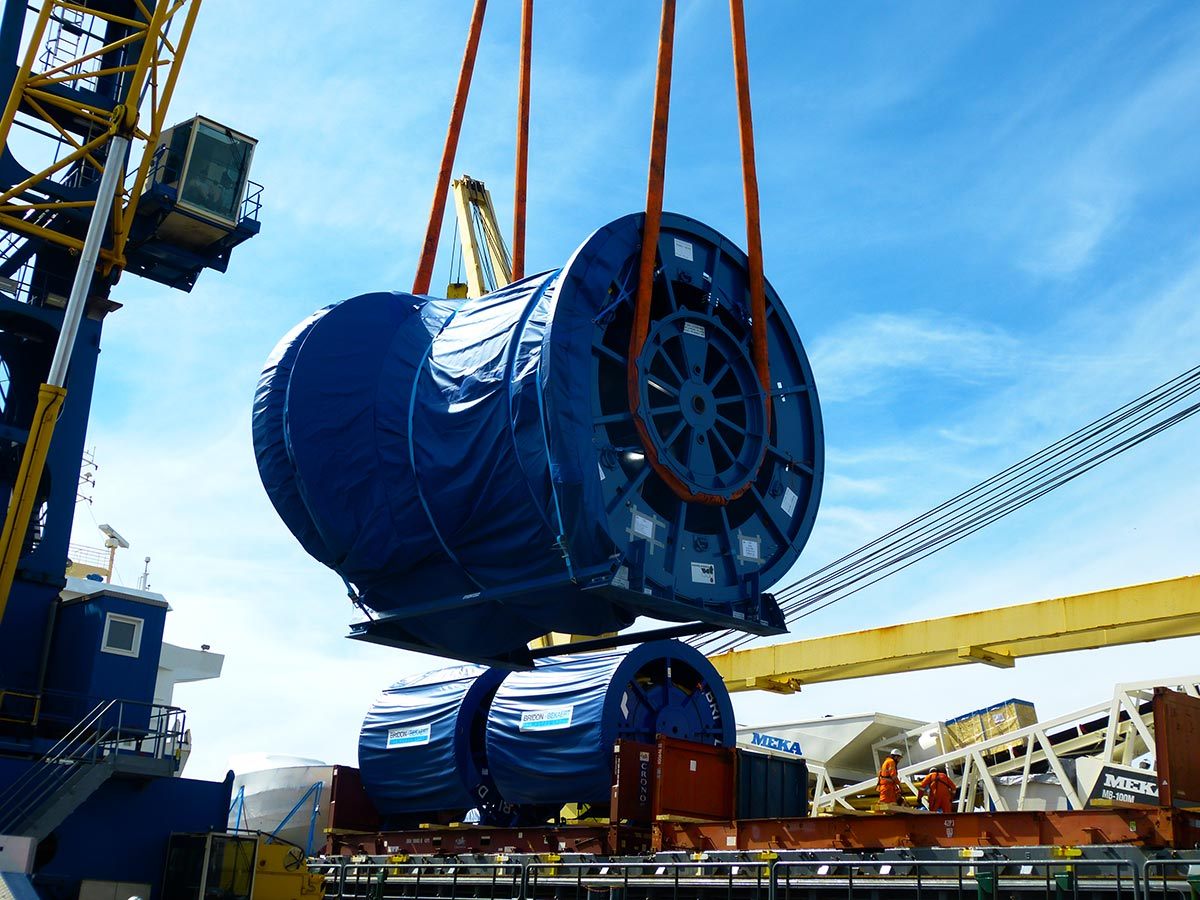 Large reels being shipped from the UK to St Croix, US Virgin Islands